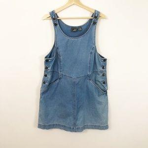 VTG 90's Lizwear Denim Jumper Overall Skirt Medium